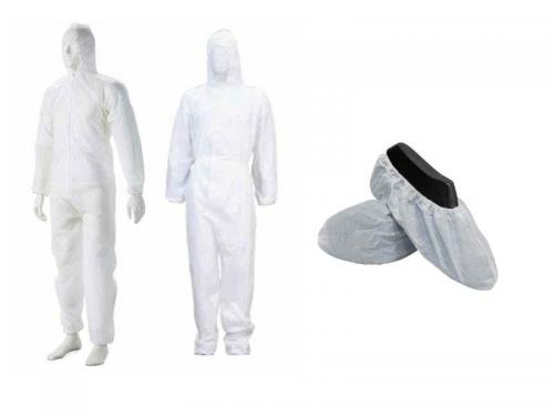 coveralls and shoe cover